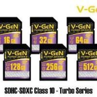 Memory Card Camera V-GEN 64GB TURBO Series 85MBpS Class10 SDHC