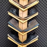 Rak Sepatu Dinding Minimalis Gantung Rak Kayu Jati Belanda display