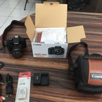 Camera Kamera DSLR Canon Eos 550D Lensa 18-55mm 18 Megapixel