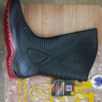 AP Boots Moto 1 Sepatu Boot Biker Karet Merah Hitam Tinggi 1/2 Betis