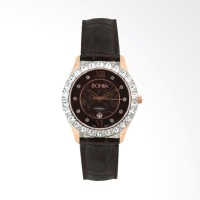 [original] Bonia B10011-2549S Jam Tangan Wanita Leather Black