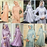 Jual Gamis pesta Baju kondangan Dress muslimah murah Cliona Dress Murah