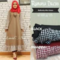 Pakaian wanita murah Baju hijaber Jual dress muslim Rumana dress