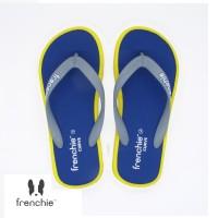 FRENCHIE Sandal Jepit CURVE SCV15 Blue Grey Yellow