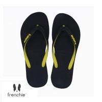 FRENCHIE Sandal Jepit ONYX SLIM SOS02 Black Yellow