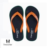 FRENCHIE Sandal Jepit CURVE SCV10 Black Green Orange