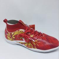 Sepatu futsal specs Accelerator Garuda Attack merah/putih new 2017