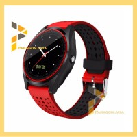 Jam pintar Smart watch V9 Smartwatch V9 Jam tangan Sporty Merah