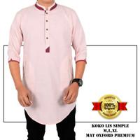 Baju Kemeja koko pakistan warna pink salem Merah Salem, M