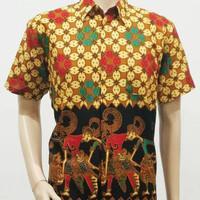 Baju Kemeja Atasam Hem Batik Pria XXL Jumbo WYG BRS Big Size