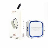 Vidvie 2 USB Port Charger - PLM302 S-Putih - Grosir