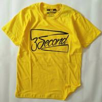 Kaos 3second Pria Terbaru Size M L XL Free Stiker Kaos Distro Bandung