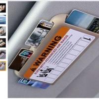 Tempat Kartu E Toll Tiket Kartu Parkir / Toll Card Holder Mobil Coklat
