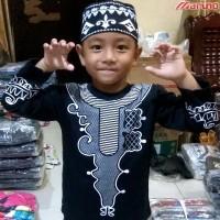 Baju Koko BLACK PANTHER Grosir Gamis Muslim Murah MARUNO