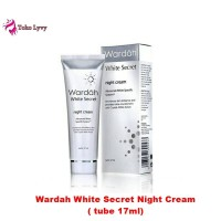 Wardah white secret night cream 17ml tube - cream malam hari