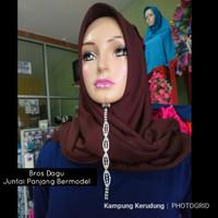 Bros Dagu Juntai Panjang Mewah Bermodel Aksesoris Jilbab Hijab Pasmina