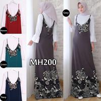 gamis overall busana muslim baju setelan casual wanita