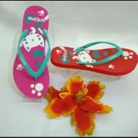 Sandal Jepit Cewek Ontime Mochi Warna Merah,Fushia