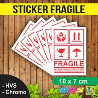 Sticker Fragile / Stiker Awas Barang Pecah Belah Uk. Besar