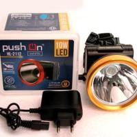 Senter Kepala Bisa Selam Nyala 20 Jam Diving / Push On 10 W LED Putih