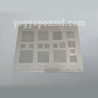 Plat cetak BGA reballing stencil template for mobile phone bga chip