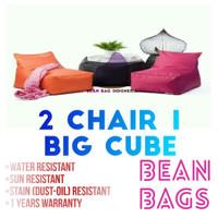 Sofa Kursi Santai Beanbag Ruang TV Tamu Kombinasi Rooftop 3Pcs Murah