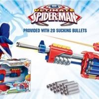 Mainan Anak - Soft Bullet Blaster Ultimate Spiderman Pistol Gun Hero