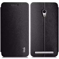 murah Imak Flip Leather Cover Case Series for Asus Zenfone 6 Black