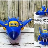 Mainan anak boneka figure Super wings pajangan Mobil Hiasan kue