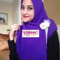 Hijab Jilbab Kerudung Scarf Segi Empat Polos Rawis Cantik Cerah NAYS