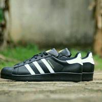 Sepatu Adidas Superstar Foundation Leather Original