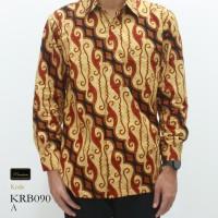 Risna Batik KRB090 Kemeja Batik Pria Panjang Halus Adem Premium M L XL