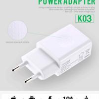 Tekini K03 Power Adapter Original Batok Charger Universal Bergaransi
