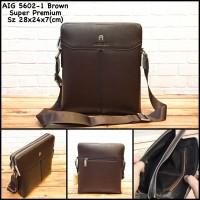 tas pria aigner 5602-1 brown replica tas cowok tas kulit tas murah