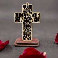 RT1465 Katolik Kayu Salib Rood Ornamen Furniture untuk Tampilan Katoli