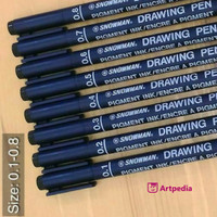Snowman drawing pen 005 - 0.8