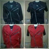 NEW jaket premium double kerah wearpack ramones jaket pria wanita ker