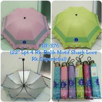 Payung Lipat 4 NF-376 Rk. Balik Motif Shark Love