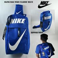 SLING BAG NIKE CLASSIC BLUE CHECK WHITE GROSIR FUTSAL BOLA GYM PREMIUM