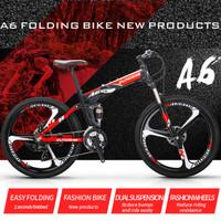 Folding Bike Sepeda Lipat Frame Aluminum 26 inch 21 Speed A6