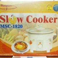 maspion slow cooker MSC 1820