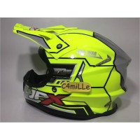 Best Seller HELM JPX CROSS X9 IRON MAN YELLOW FLUO GLOSS SILVER TRAIL