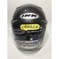 Best Seller HELM INK ENZO SOLID GUN METAL SILVER DOUBLE VISOR HALF
