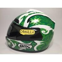 Best Seller HELM FULL FACE BMC JAZZ #12 GREEN WHITE