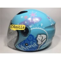 Best Seller HELM BMC MILAN FROZEN ANNA ELSA BLUE PASTEL HALF FACE