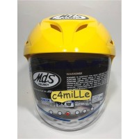 Best Seller HELM MDS PROTECTOR SOLID CRYMSON YELLOW HALF FACE