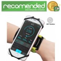 Wristband Smartphone Holder 180 Degree Rotatable - Hitam