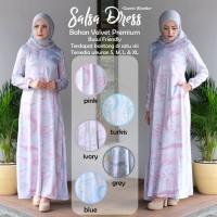 Gamis syari Modern terbaru motif 2018 / Dress Salsa Muslim murah
