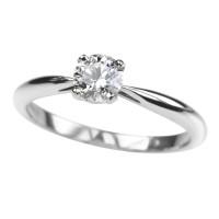 cincin satuan bahan emas putih 9k AuAg