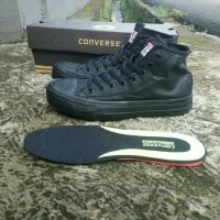 Sepatu Converse Asli Kulit Original For Man Pria Fashion Hitam Black